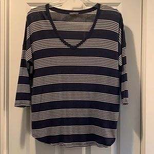 NWOT Navy with white stripe